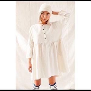 Cream flannel Urban Renewal flannel babydoll dress